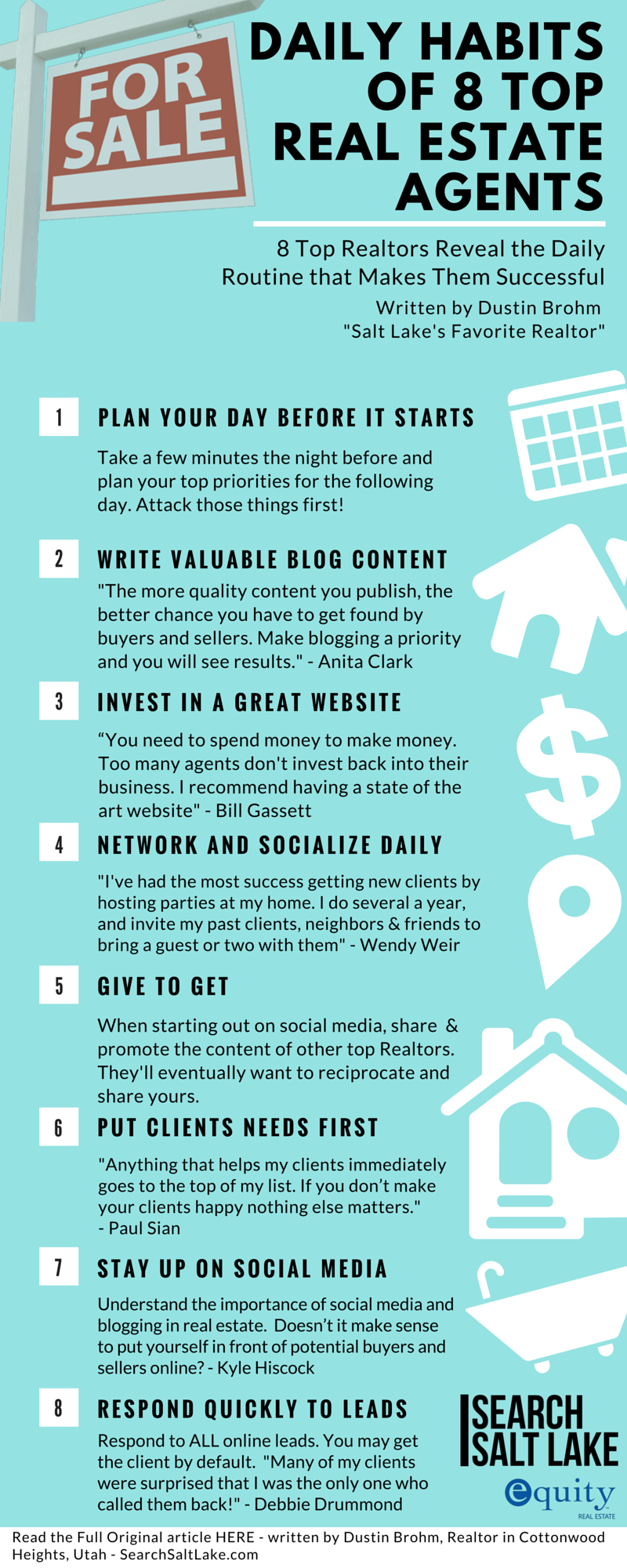 Daily Habits of Top Real Estate Agents- INFOGRAPHIC