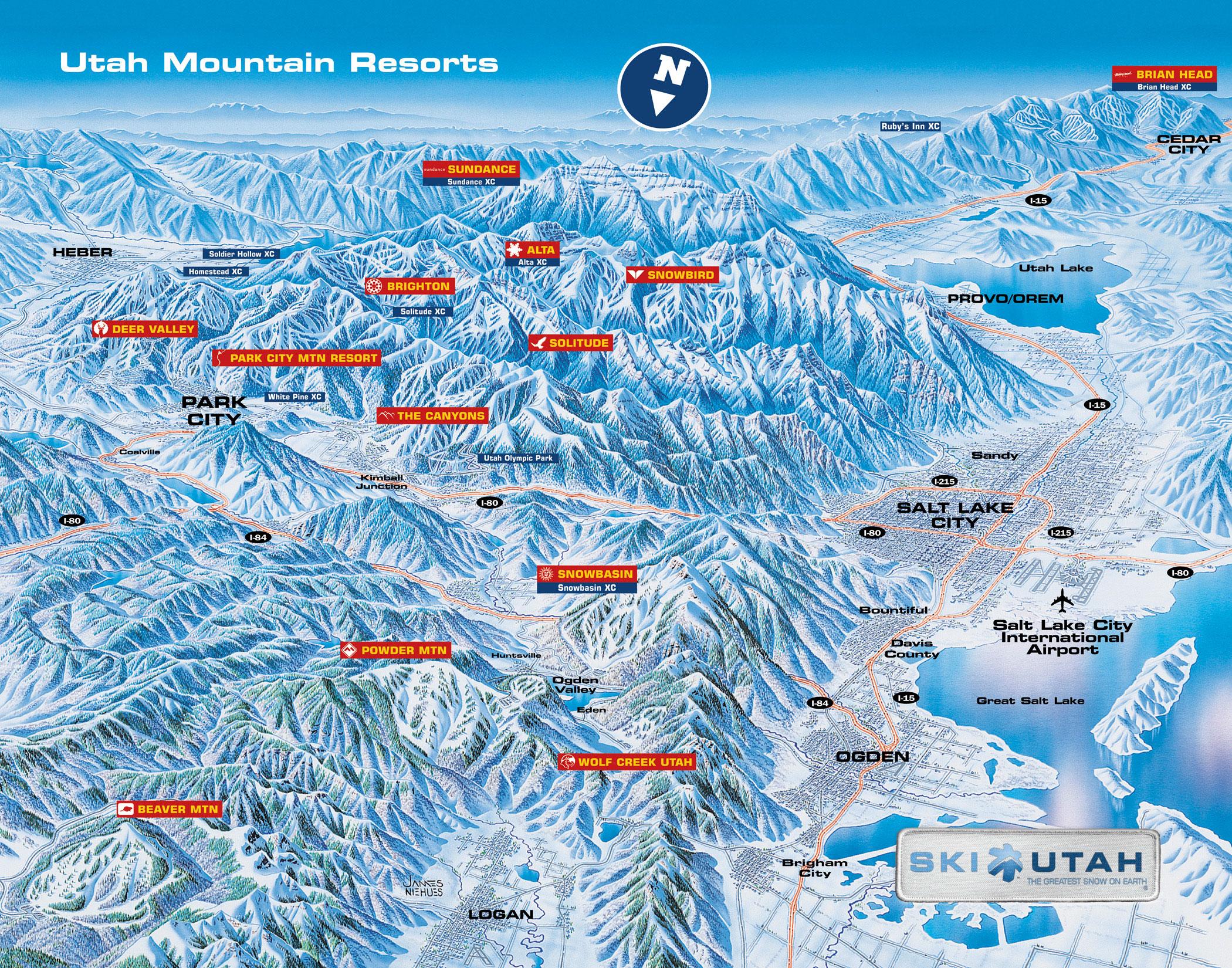 Real Map Of Salt Lake City